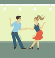 people dancing hobman and woman vector image vector image