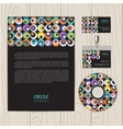 retro circle corporate identity vector image