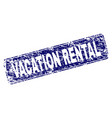 scratched vacation rental framed rounded rectangle vector image vector image