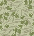 Seamless background with green olives vector image vector image