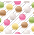 Seamless pattern Japanese mochi rice dessert vector image vector image