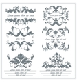 Set of decorative floral ornaments in victorian vector image vector image