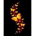 Shiny Butterflies vector image vector image