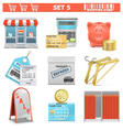 shopping icons set 5 vector image vector image