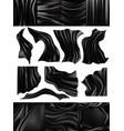 silk black silky fabric and elegant dark vector image