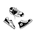 sneaker running shoes glyph icon fitness and vector image