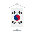 south korean flag on the metallic cross pole vector image