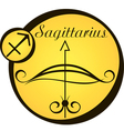 stylized zodiac signs in a yellow circle vector image