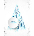 technology christmas tree from digital electronic vector image vector image