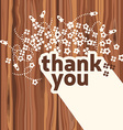 Thank you card design template vector image