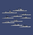 us navy guided missile cruisers vector image vector image