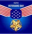 veterans day banner vector image