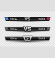 vs duel challenge set versus board rivals with vector image vector image