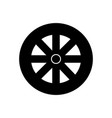 wheel icon black sign on vector image vector image