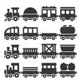 cartoon style toy railroad train set vector image