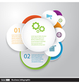 Circles modern business Infographics design vector image