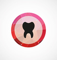 tooth circle pink triangle background icon vector image