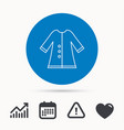 cloak icon protection jacket outerwear sign vector image