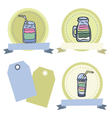 Hand drawn smoothie badges vector image