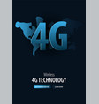 4g new wireless internet banner for social media vector image