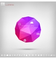 Abstract polygonal geometric background with web vector image vector image