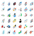 all day support icons set isometric style vector image vector image