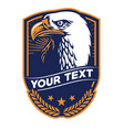 bald eagle badge vector image vector image