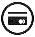 banking card rounded icon rubber stamp vector image vector image