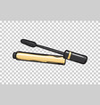 black mascara in gold tube isolated vector image