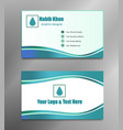 business card simple pattern blue shining vector image vector image