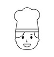 chef woman happy worker with hat vector image vector image