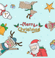 christmas elements freehand drawn cartoons doodle vector image vector image