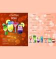 Cocktail menu design templatecocktail list cover