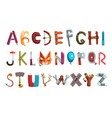 collection letters made various objects vector image