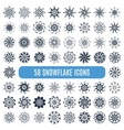 Collection of elegante stylish snowflakes isolated
