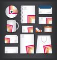 corporate identity branding template design vector image vector image