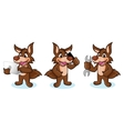 Coyote Mascot with phone vector image vector image