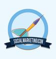 dart social marketing icon emblem vector image vector image