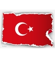 design flag turkey from torn papers with shadows vector image vector image