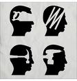 DIY heads vector image vector image