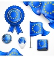 European national symbols vector image vector image
