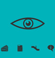 eye icon flat vector image vector image