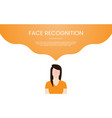 face recognition technology concept theme vector image vector image