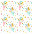 festive confetti seamless pattern vector image