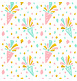 festive confetti seamless pattern vector image vector image