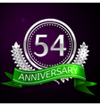Fifty four years anniversary celebration with vector image vector image