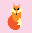 fox isolated vector image vector image