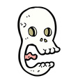 funny comic cartoon skull vector image vector image