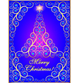 greeting card with ornamental tree vector image vector image
