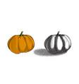 halloween pumpkin in dotwork style stipple vector image